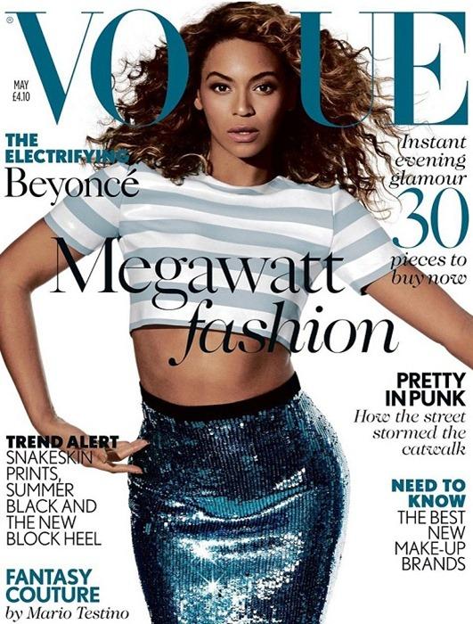 Бейонсе на дебютной обложке британского Vogue
