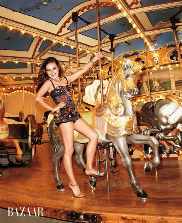 Терри Ричардсон и Мила Кунис для Harper's Bazaar US