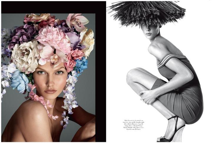Карли Клосс разделась для Vogue Italia