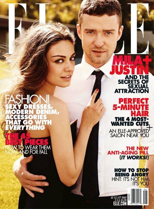 Мила Кунис и Джастин Тимберлейк для журнала Elle