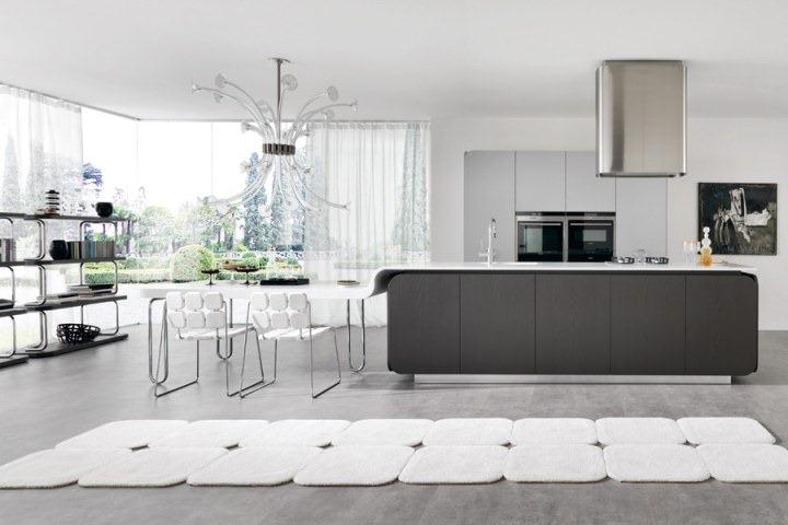 Проект кухни IT IS от Симоне Микели, для мебельной компании Euromobil