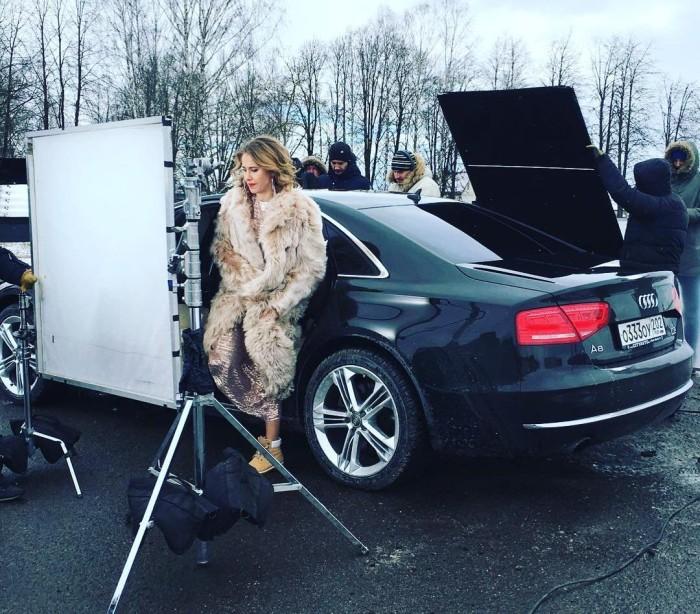Ксения Собчак снимается в клипе