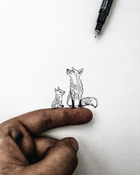 Миниатюрные рисунки Кристиана Уотсона