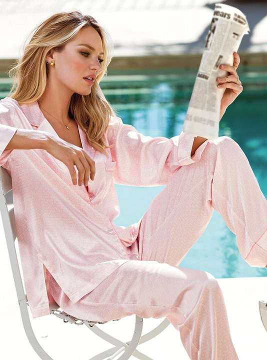Миранда Керр и Кэндис Свейнпол в нижнем белье Victoria's Secret
