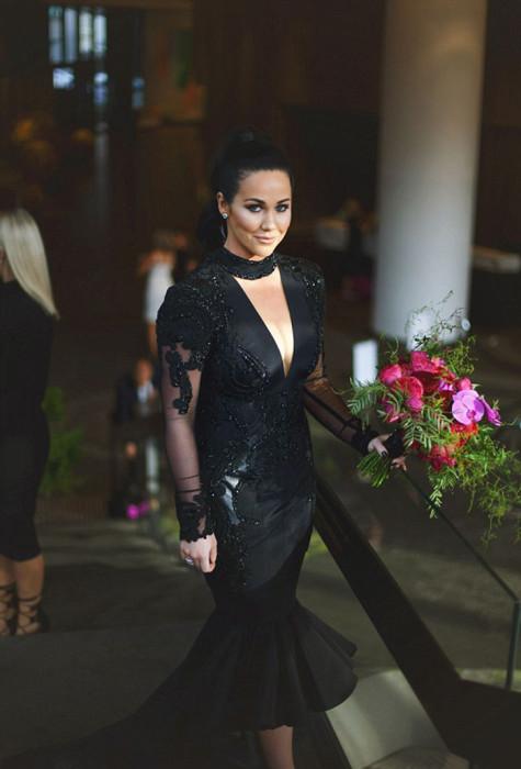 Черное платье для свадьбы