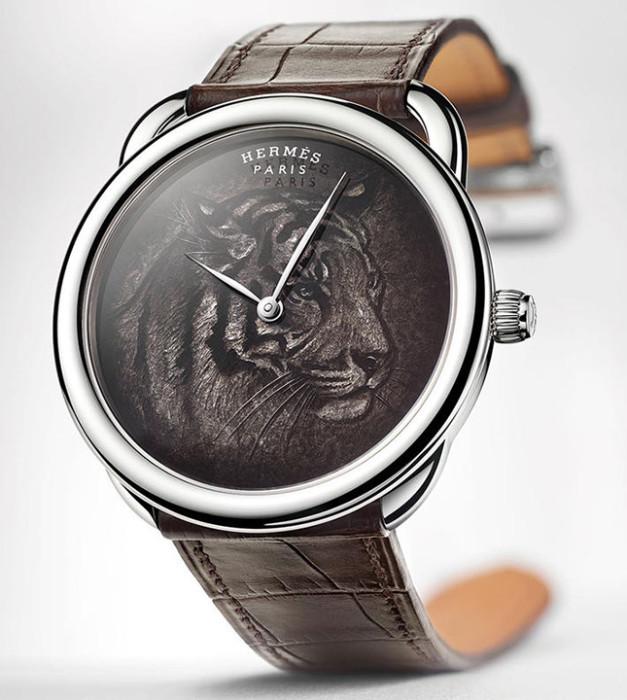 Часы с изображением тигра: Hermès Arceau