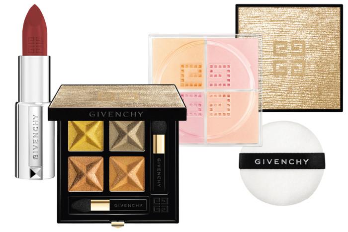 Макияж Givenchy в золоте