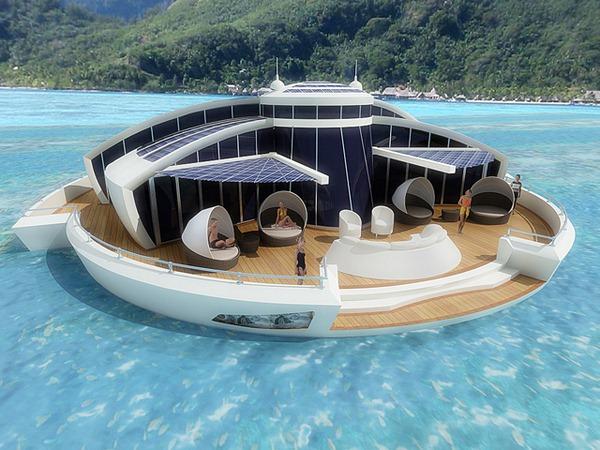 Плавающий отель на солнечных батареях