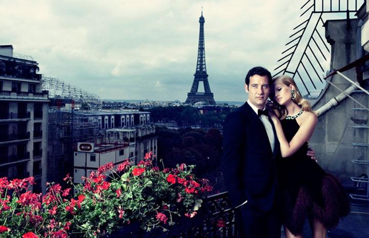 Тони Гаррн и Клайв Оуэн в романтической фотосессии для Vogue Spain