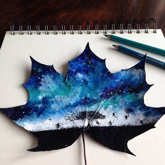 Искусство на листьях
