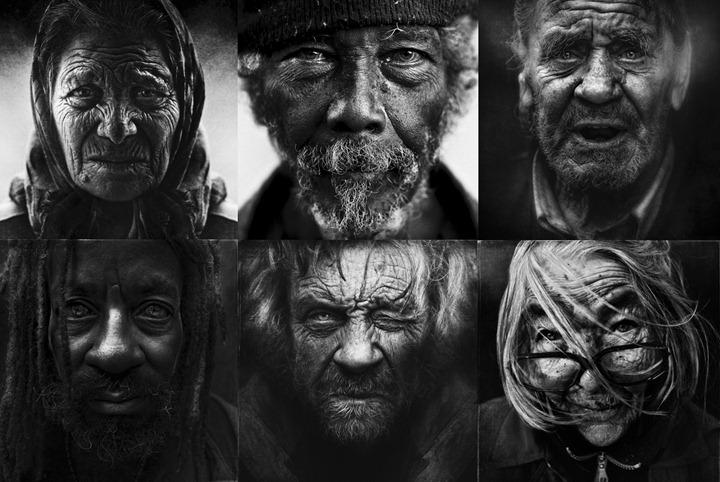 Портреты бездомных в проекте Lee Jeffries