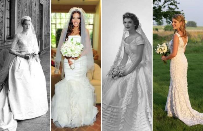 Свадебные наряды знаменитостей