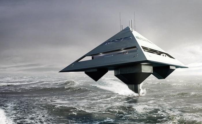 Летающая яхта Tetrahedron!
