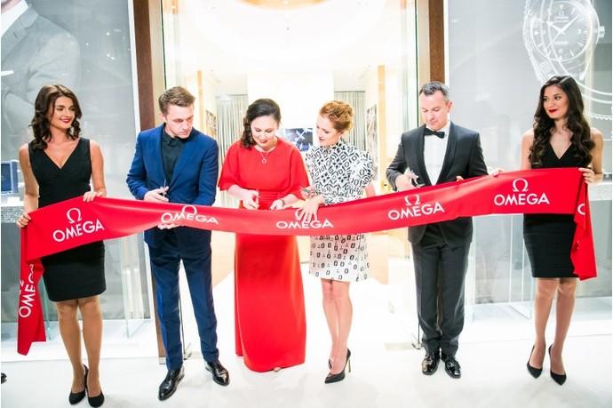 Звезды на открытии бутика OMEGA