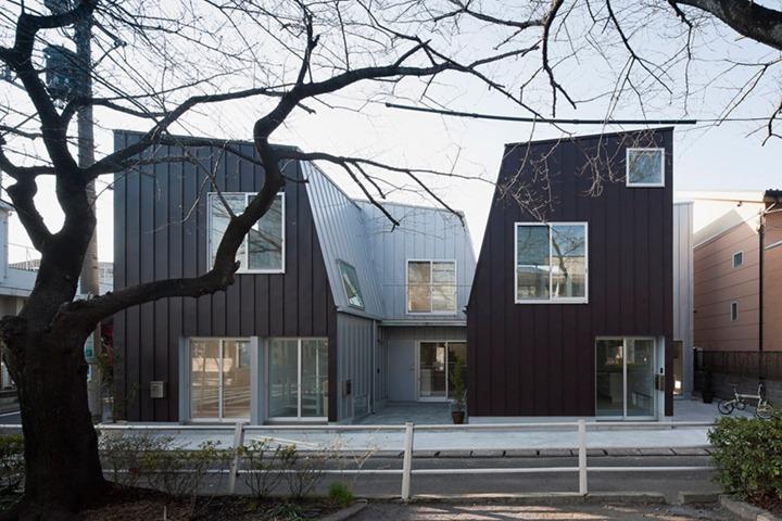 Оригинальный жилой комплекс в Токио