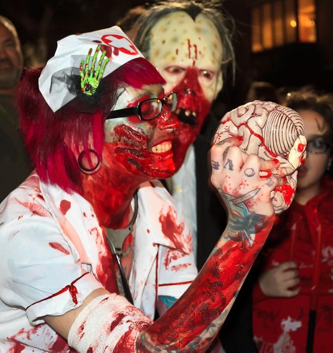 Пурим 2012: Зомби на улицах Тель   Авива