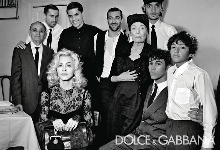 Мадонна и ее большая итальянская семья от Dolce & Gabbana