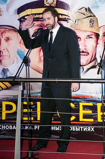 Николас Кейдж в Москве на премьере фильма Крейсер!