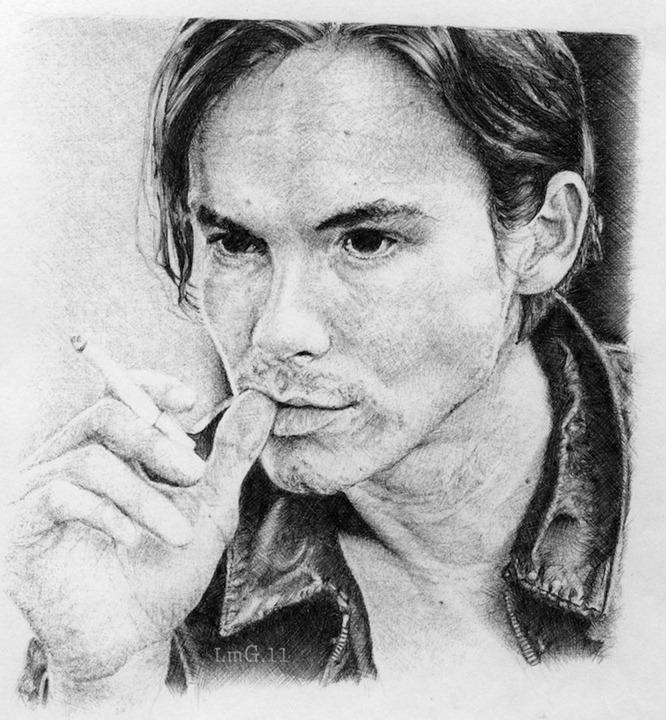Портреты актеров шариковой ручкой от Laura Modamio