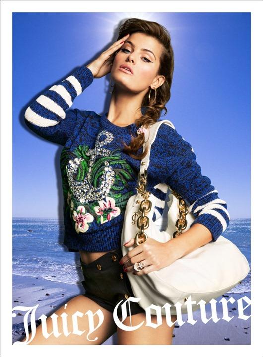 Кэндис Свейнпол, Изабели Фонтана и Наташа Поли в рекламной кампании Juicy Couture