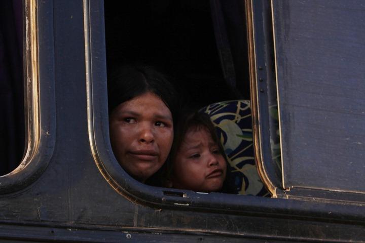 Протесты индейцев в Боливии