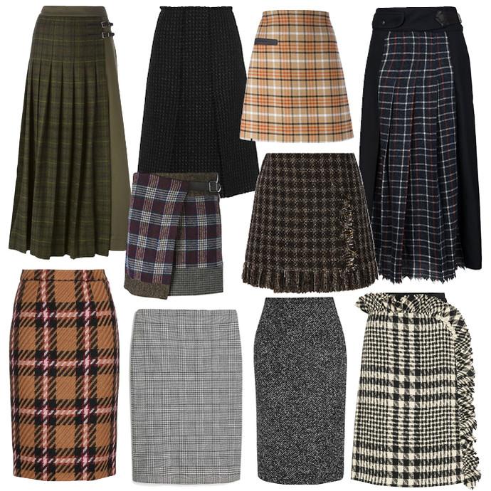 Модные юбки зима фото