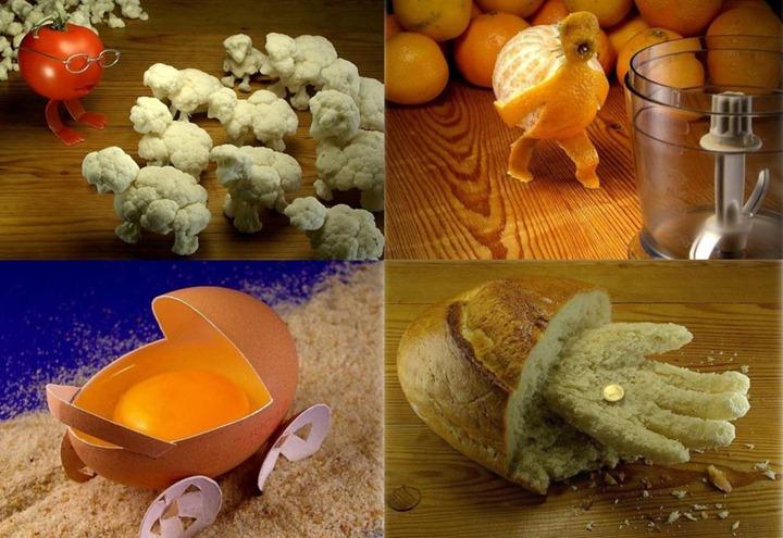 Удивительные фигурки из продуктов питания