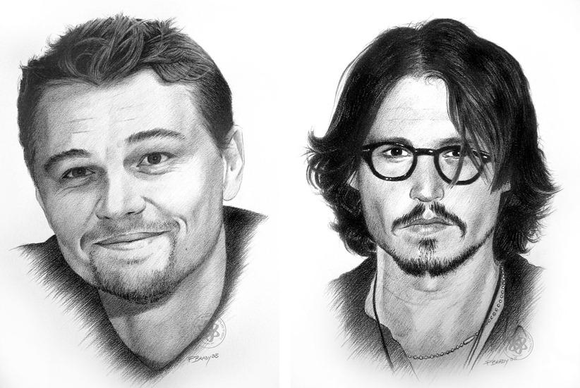 Рисунки знаменитостей карандашом от