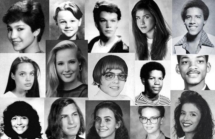 Знаменитости в юности