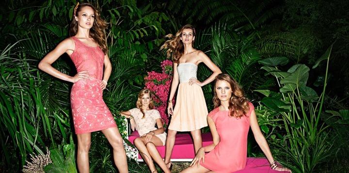 Рекламная кампания H & M весна 2012