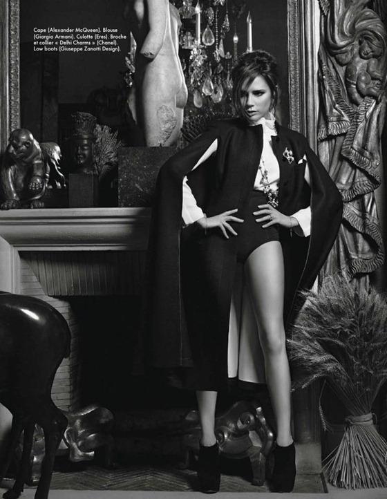 Королева Виктория. Совместная фотосессия Бекхэм и Лагерфельда