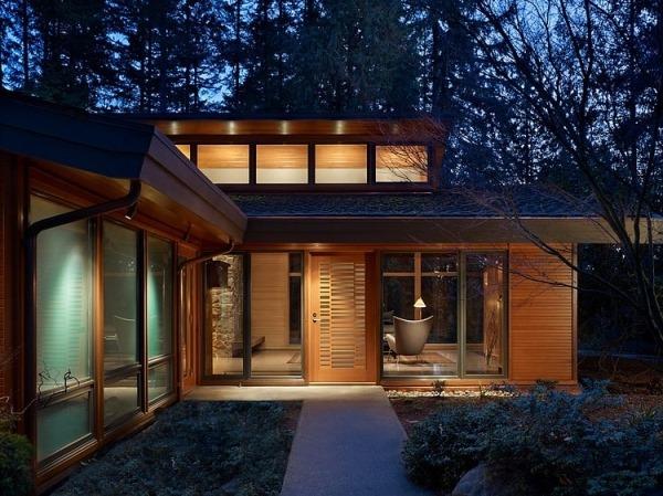 Обыкновенно и роскошно: деревянный интерьер