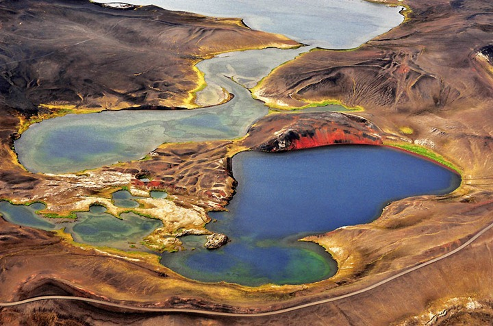 Потрясающие ландшафты Исландии, с высоты птичьего полета