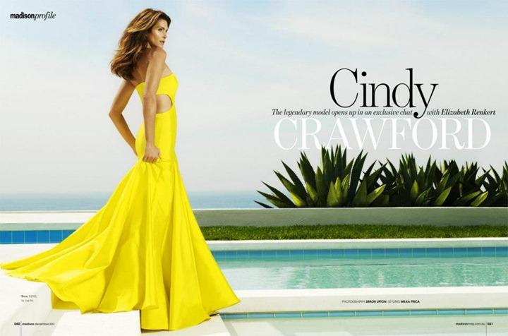Супермодель Синди Кроуфорд в Madison Magazine