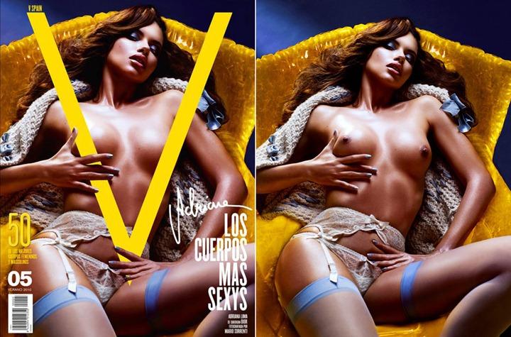 Обнаженные супермодели на обложке V Magazine