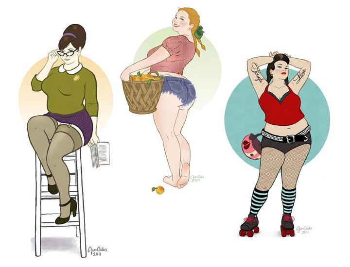Пин–ап иллюстратора Jen Oaks