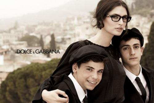 Бьянка Балти в рекламной кампании Dolce & Gabbana