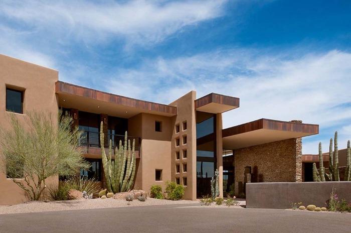 Удостоенный премии современный дом класса люкс в Аризоне