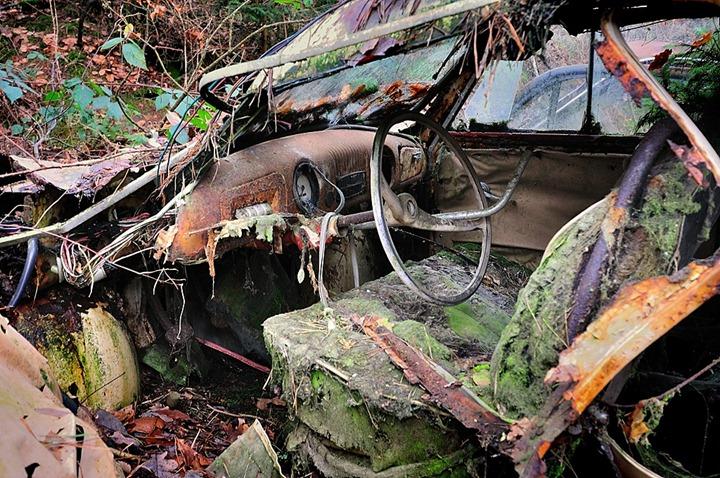 Автомобильное кладбище в Бельгии