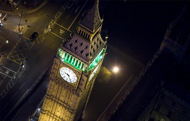 Район лондона в ночное время