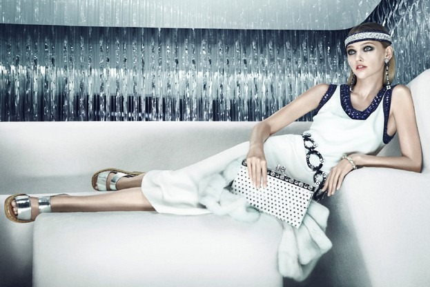 Саша Пивоварова в рекламной кампании Prada Resort 2013