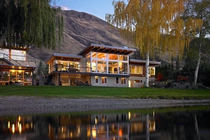 Современный и яркий дом с удивительным видом на реку Колумбия, Вашингтон
