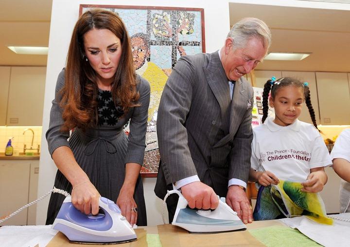 Герцогиня Кэтрин на встрече с воспитанниками детского фонда искусств