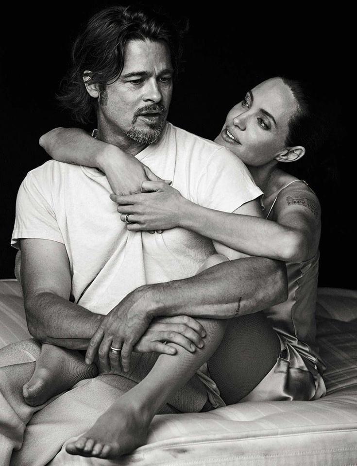 Фотосессия Анджелины Джоли и Брэда Питта