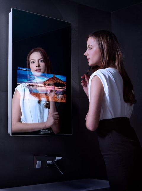 Сенсорное зеркало заменит домашний ПК
