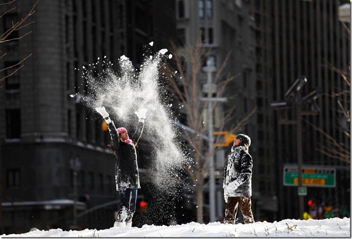 Снежные сцены