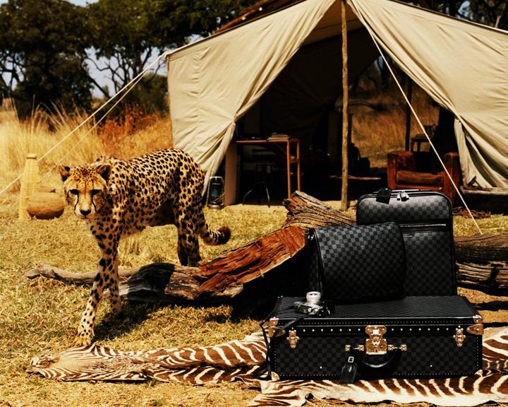 Фотосессия мужской одежды Louis Vuitton в Африке