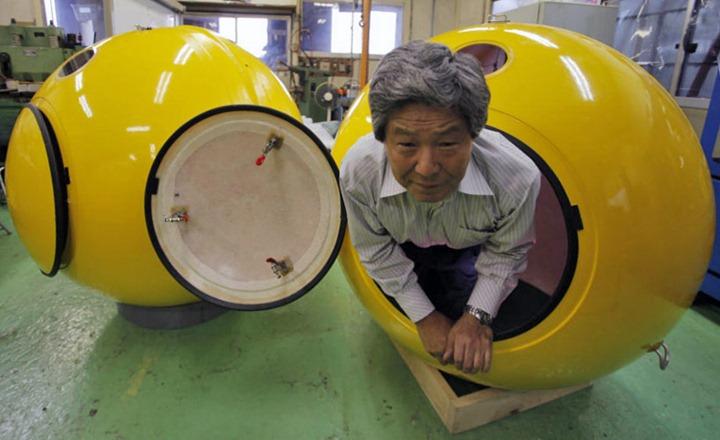 В Японии изобрели капсулы которые спасут от цунами