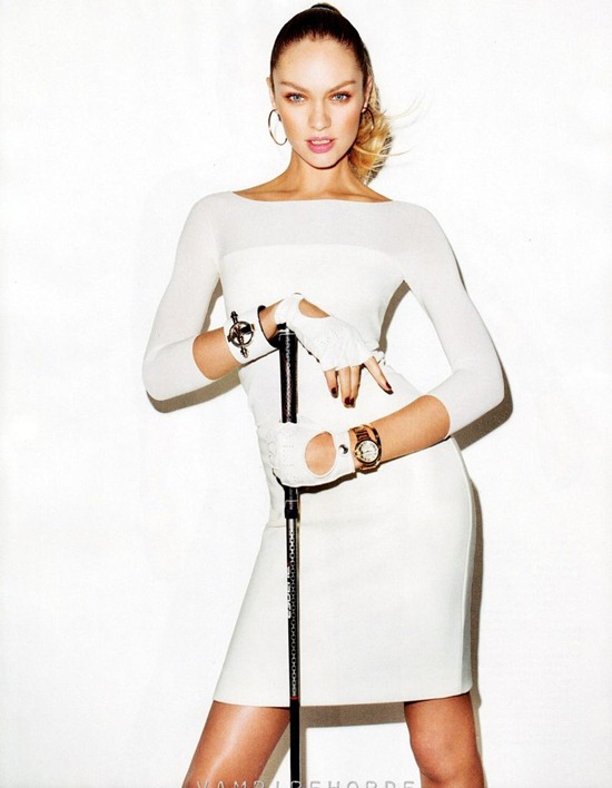 Кэндис Свейнпол в объективе Терри Ричардсона для Harper's Bazaar US