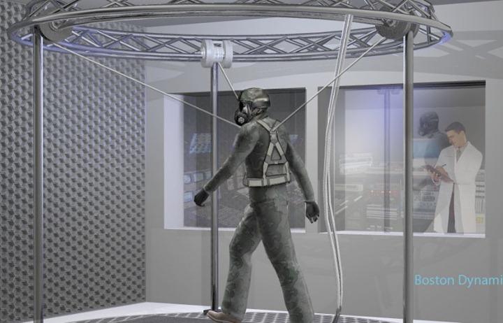 Первый в мире антропоморфный робот Petman